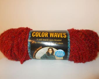 Sunset Red Color Waves Lion Brand Yarn
