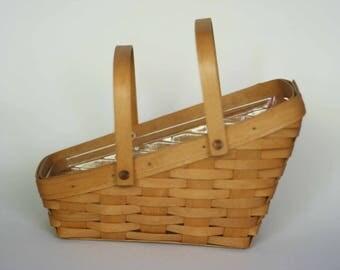 vintage longaberger basket with liner 1997