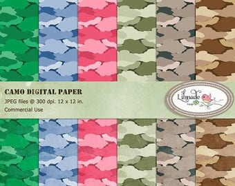 65%OFF SALE Camo digital papers, Army camouflage digital papers for commercial use, textured camo, textured camouflage digital paper, P170