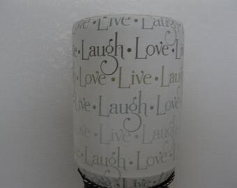 Home Water Bottle decor-Cooler Cover-5 Gallon Water Bottle Cover-Live, Love, Laugh