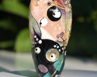 Dog bead , dog focal , lampwork bead , glass focal bead , dog focal bead , sra lampwork artist