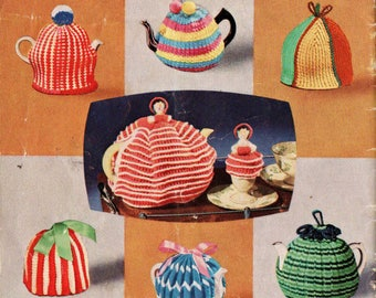 Patons C14 Vintage 60s Knitting & Crochet patterns booklet Toys Tea Cozies Afghans Socks Poodle Stuffed Toys