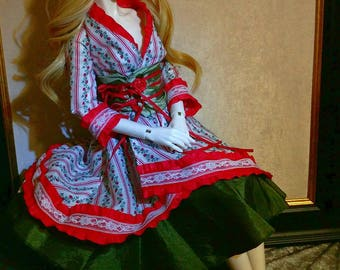 Bjd SD Victorian Berry Waloli Coat