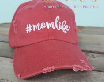 Fall Distressed Mom Hats- #momlife hat
