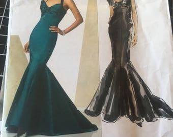 Vogue 2931 Designer Original, Bellvile Sassoon Wedding Dress, Mother of the Bride, Prom, Special Occasion,