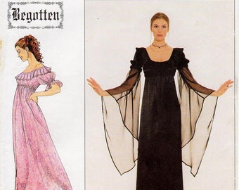 Simplicity Costume Pattern 8619 by BEGOTTEN - Misses' Gothic Empire Dress in Two Variations - Sz 10/12/14