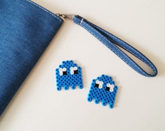 Pixel Art Ghost Brooch set of 2, Brooches, Accessories, Handmade, Trending, Gift for Boyfriend, Relationship, Love and Friendship