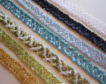 vintage Swiss straw braid BTY - millinery supply - faux straw braid - YOUR CHOICE