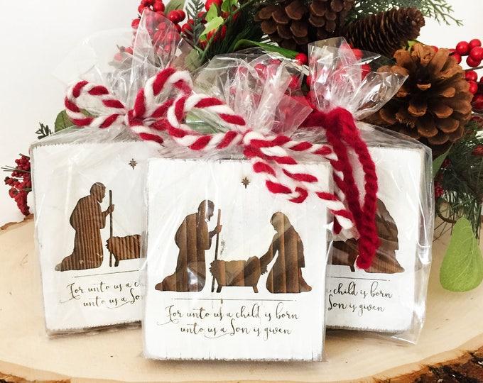 Set of 3 mini Nativity Signs