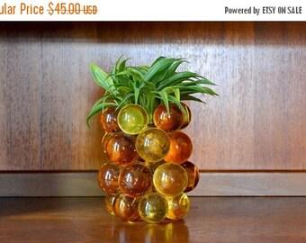 CIJ SALE 25% OFF vintage 1970s lucite pineapple