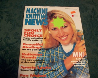 Machine Knitting News September 1997 Back Issue, Machine Knitting Magazine, Machine Knitting Patterns, Knitting Machine Patterns