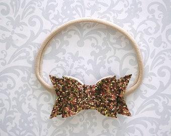 Fall Glitter Bow Headband, Glitter Baby Bow Headband, Fall Glitter Bow, Glitter Bows, Fall Baby Bow, Fall Baby Headband, Toddler Headband