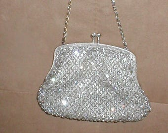 Vintage Rhinestone covered Evening Purse