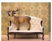 FALL SALE Deer print, woodland decor, deer art, antlers - Barely Domestic