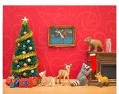 FALL SALE Christmas decor art print: Cozy Christmas
