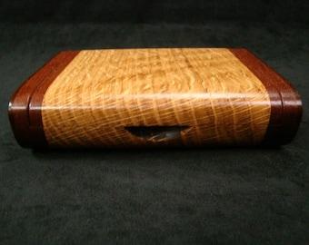 Wooden Business Card Box, Office Desk Box, Keepsake Box, Handmade Wood Box