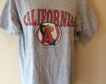 California Angels Los Angeles baseball vintage 1980s t shirt size medium