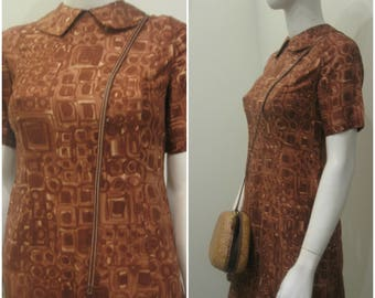 50s 60s abstract mid century vintage dress