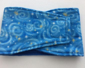 Male Dog Diaper - Dog Belly Band - Blue Celestial - Available in all Sizes