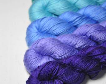 Hawaiian hang-over - Gradient of Silk/Cashmere Lace Yarn