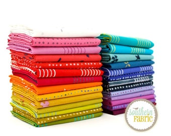 "Chroma- Half Yard Bundle - 27 - 18""x44"" Cuts by Allison Glass for Andover Quilt Fabric (AG.CH.27HY)"