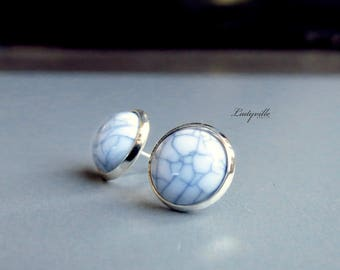 Earrings - Marble