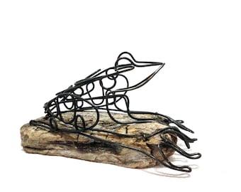 Frog Wire Sculpture, Frog Art, Minimal Sculpture, Folk Art, Home Decor, 573482381