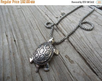ON SALE Turtle necklace handmade in sterling silver