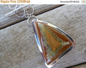 ON SALE Sterling silver necklace with a Owyhee jasper stone