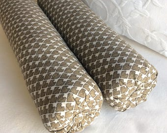 PAIR DIEGO bolster pillows 6x22 in smoke