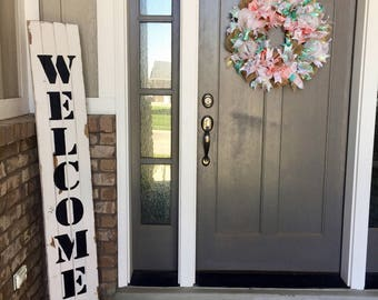 Welcome sign, porch sign, large welcome sign, wood welcome sign, porch welcome sign, entryway sign,