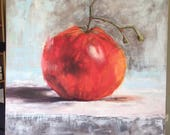 reserved for Kristin - 40 x 40 inch tomato painting on canvas