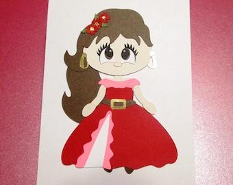 Paper piecing Princess Elena of Avalor, die cuts, embellishment