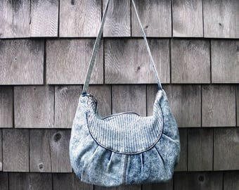 1980s Mitzi Acid Wash Denim Purse Shoulder Bag