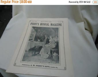 Ephemera & Books 50% Sale Vintage 1926 Perry's Musical Magazine Sheet Music, September, no 6, collectable