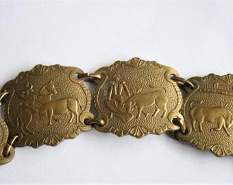 Vintage Spanish bracelet. Bull fighting bracelet.  Bull fighter bracelet.  Vintage jewellery