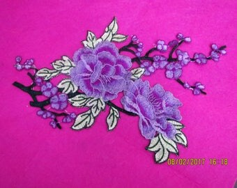 Lavender and green applique