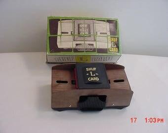 Vintage Shuf L Card Battery Powered Automatic Card Shuffler In Original Box  17 - 982