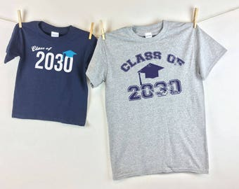Class Of - Youth First Day of school shirt and Adult Shirt for Pics throughout the years - Y3 A5