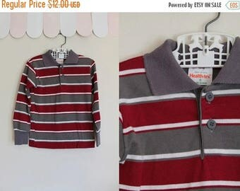AWAY SALE 20% off vintage boy's tee - HEALTH-Tex striped long sleeve top / 5T