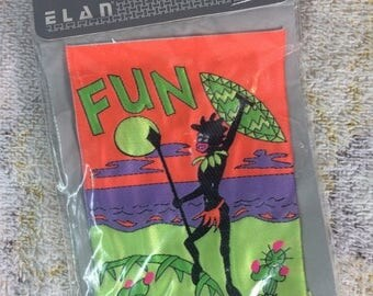 15% OFF 80s Tribal Fun Sew on Label Patch Neon