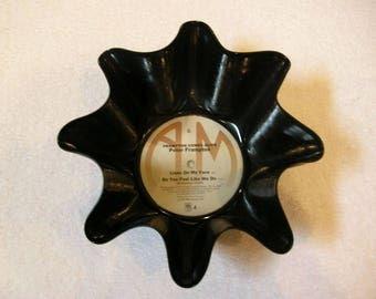 Peter Frampton Record Bowl Made From Vinyl Album - Rock Music Gift