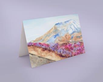 Mount Saint Helens Art Card