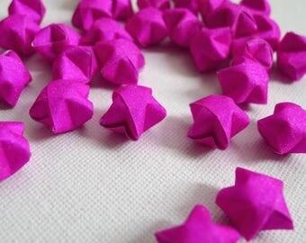 80 Fuchsia Pink Shimmer Magical Fairy Dust Origami Lucky Stars