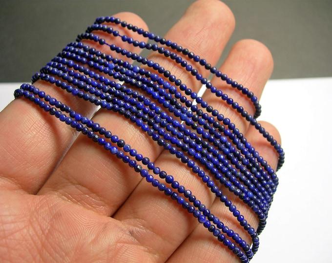 Lapis lazuli 2mm(1.92mm) round-  full strand - 208 beads - PG19