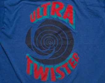 Ultra Twister Roller Coaster T-Shirt, Six Flags Great Adventure, Vintage 80s, Ride Souvenir Graphic Tee, Jackson New Jersey
