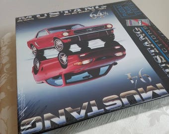 Mustang 64 1/2 and 94 Reflections Puzzle By Springbok 500 Pieces NEW 1994 Sealed Box With Carroll Shelby Collector Cards, Ford Licensed