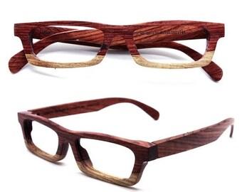 20% off SUMMER SALE Love-wood Two-tone Rosewood Takemoto Eyeglasses Glasses Frame
