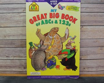 Vintage 1998 My Big Book of ABC's and 123's, School Zone Educational Book
