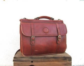20% Off Sale Briefcase Satchel Cognac Leather Large Work Laptop Bag